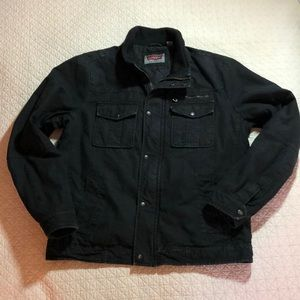 Levi jean jacket black quilted lining size Medium